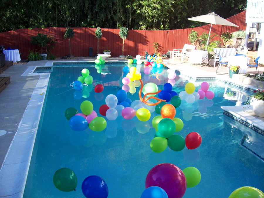 Outdoor events bnb events decor for Garden pool party ideas